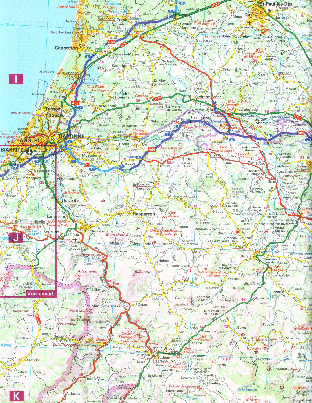 Maps - Distance biarritz saint jean pied de port ...